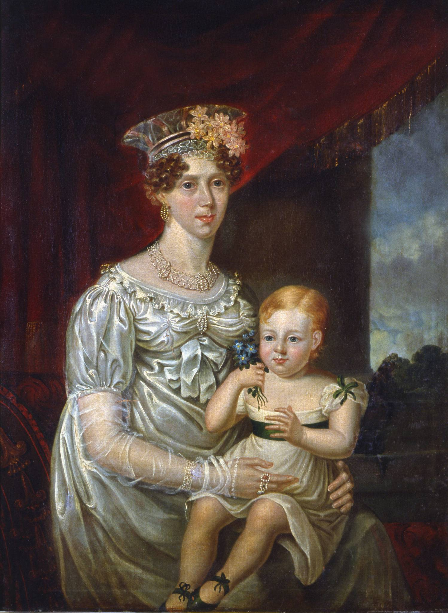 Mary O'Connell (wife of Daniel O'Connell) with her youngest son, Daniel. OPW