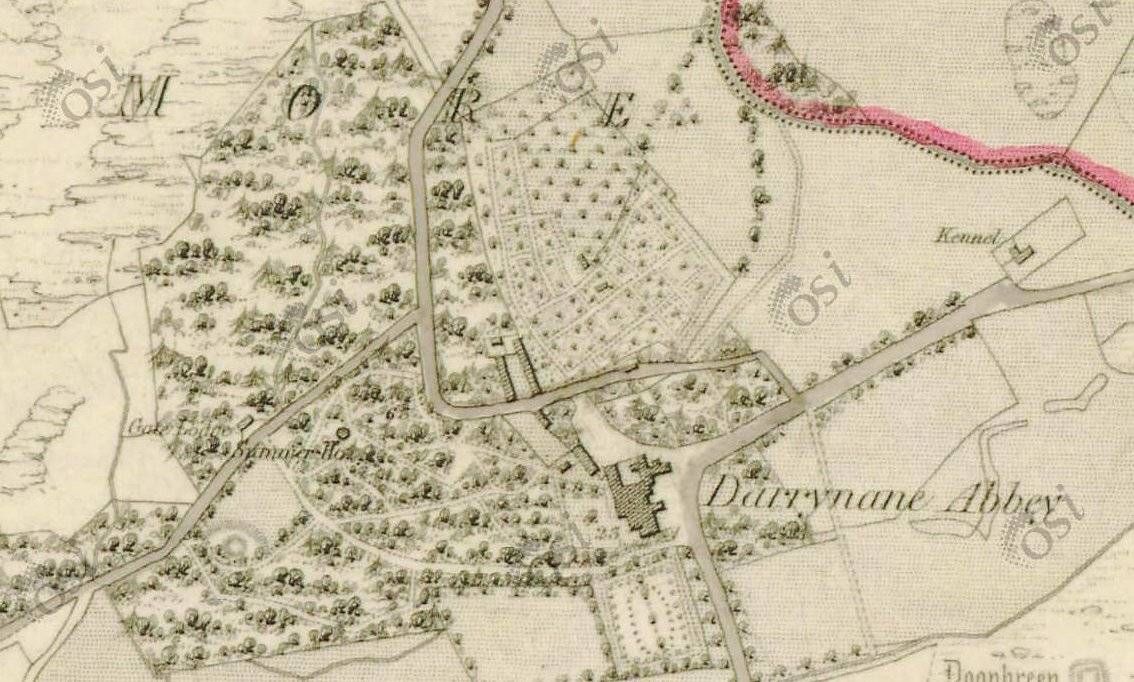 Ordnance Survey Ireland 1837 map. OSI.